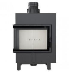Insert cheminée à bois MOREA 12 kW 2 vitres version gauche