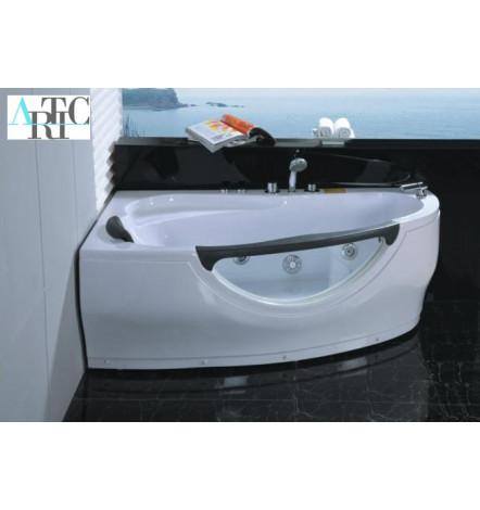 baignoire d 39 angle balneo kythira angle gauche 160 100 cm. Black Bedroom Furniture Sets. Home Design Ideas