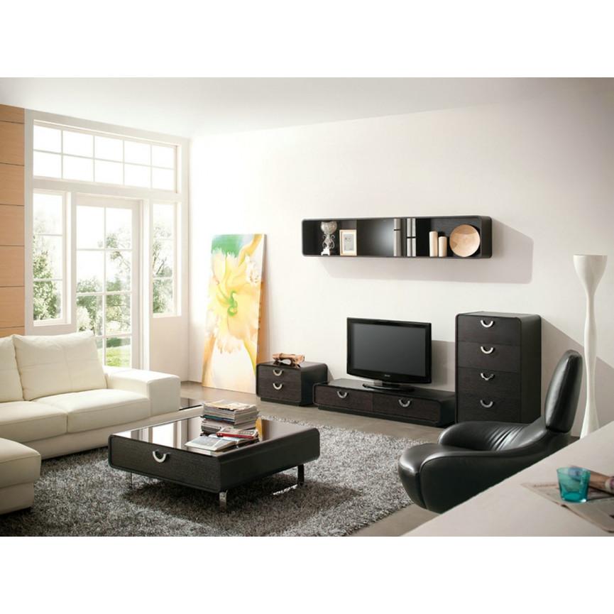 Meuble tv aragona brun meuble tv design d coration s jour - Meuble tv brun noir ...