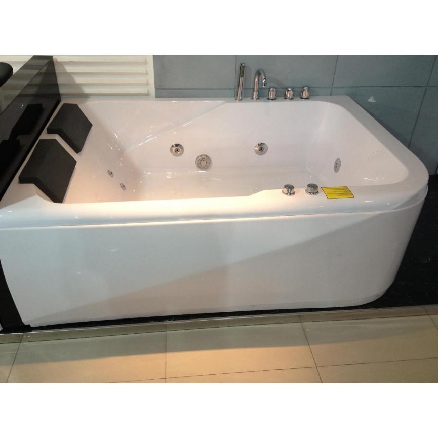 baignoire balneo ios angle gauche 170 120 cm baignoire