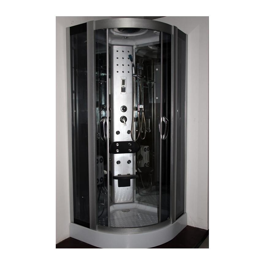 Cabine de douche megistri 90 90 223 cm hydromassage for Cabine de douche faible hauteur