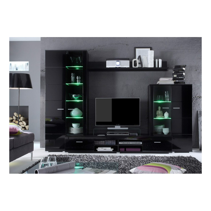 Ensemble meuble tv dark d coration s jour for Ensemble meuble sejour