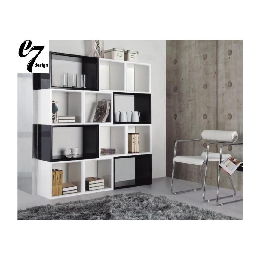 Chiavari Box En Laqu Noir Noir Meuble Tv Bilioth Que Design  # Meuble Bibliotheque Laque Blanc