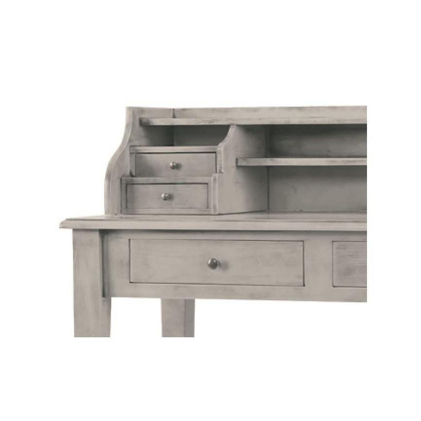 Pescara bureau en bois style campagne meuble vintage - Meuble bureau en bois ...