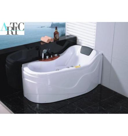 baignoire balneo ithaki angle droit 142 82 cm gain de place mobilier salle de bain. Black Bedroom Furniture Sets. Home Design Ideas