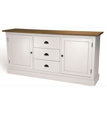 rimini buffet blanc en bois style vintage meuble vintage d coration s jour. Black Bedroom Furniture Sets. Home Design Ideas
