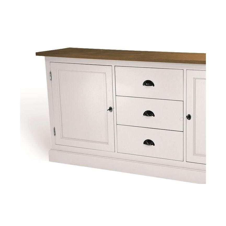 rimini buffet blanc en bois style vintage meuble vintage d coration s jour. Black Bedroom Furniture Sets. Home Design Ideas