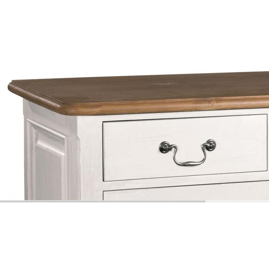 Alessano commode en bois blanc meuble vintage for Meuble sejour bois