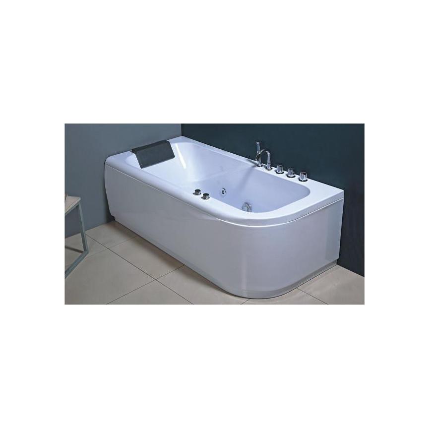 Baignoire balneo paxi angle gauche 170 80 cm baignoire for Equipement baignoire