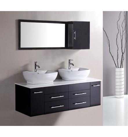 Ensemble de salle de bain TAUSTE noir- Meuble Salle de bain double ...