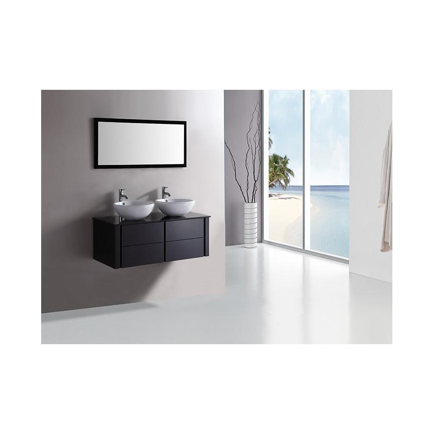 Salle De Bain Meuble Noir ~ ensemble de salle de bain alcaraz noir meuble salle de bain double