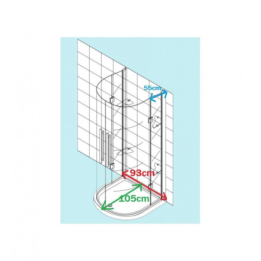 cabine de douche tomar 105 93 190 cm cabine de douche. Black Bedroom Furniture Sets. Home Design Ideas