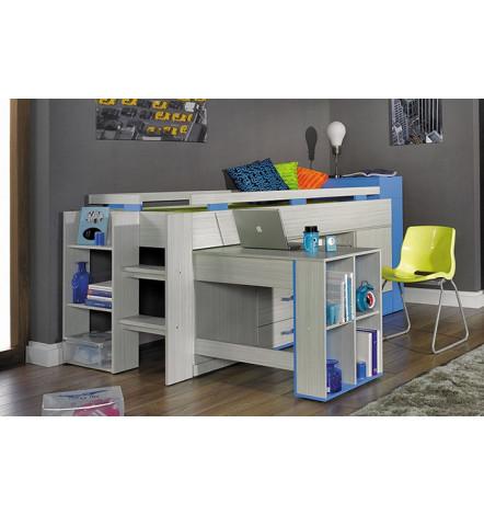 Lit combiné   bureau enfant PAPILLON-chambre d enfant - lit superposé eb20b4fc7a4e