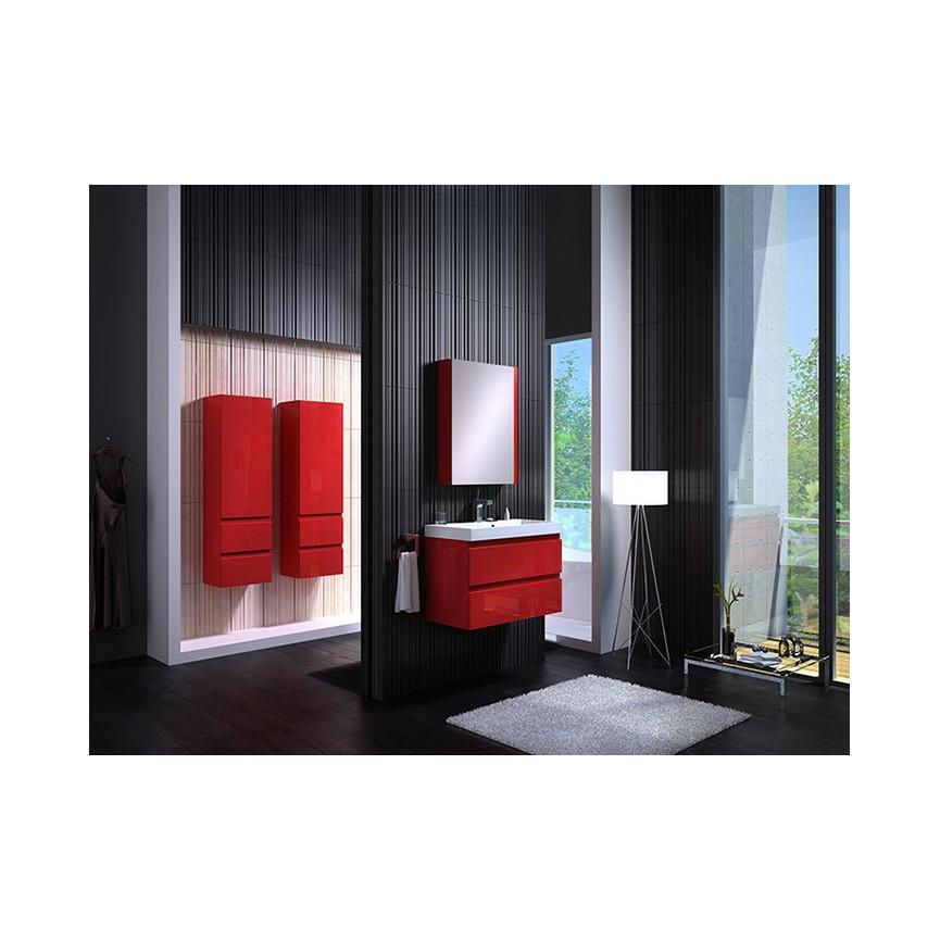 Ensemble de salle de bain como 60cm rouge meuble salle for Ensemble meuble de salle de bain solde