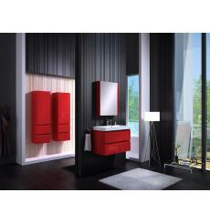 Meuble de salle de bain COMO rouge 80cm