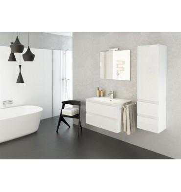 Ensemble de salle de bain O 80cm blanc Meuble Salle de bain