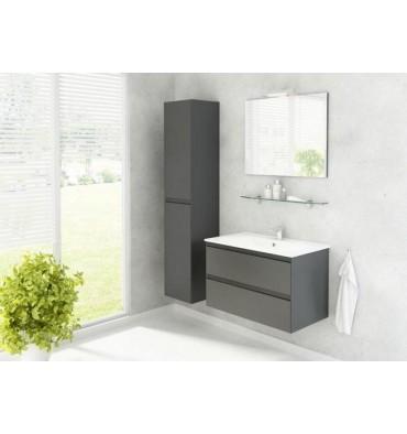 Ensemble de salle de bain GUADIX gris 80cm - Meuble Salle de bain ...