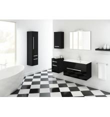 Meuble de salle de bain OLEX noir 60cm