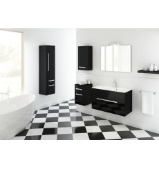 Meuble de salle de bain OLEX noir 80cm