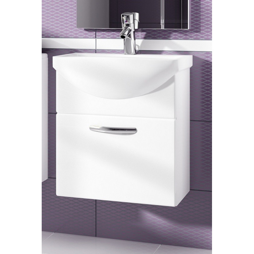 Carrelage Mural Salle De Bain Autocollant ~ ensemble de salle de bain koral blanc55cm meuble salle de bain une