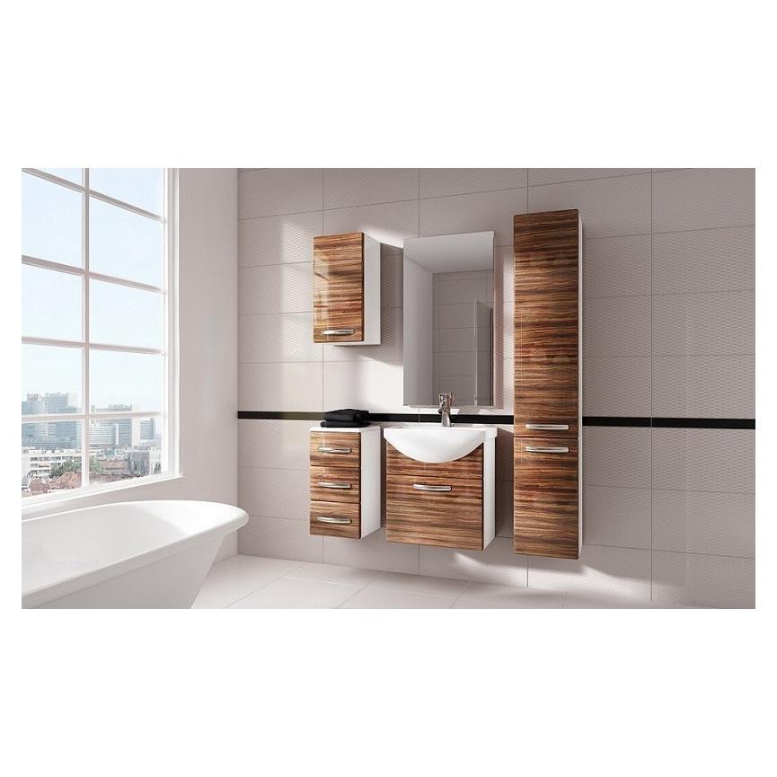 Ensemble de salle de bain koral nature 55cm meuble salle de bain une vasque d coration salle - Meuble salle de bain nature ...