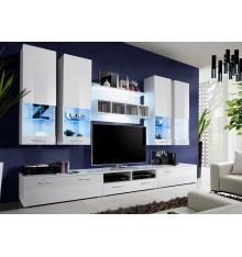 Ensemble meuble TV BONIFACIO 300cm Blanc