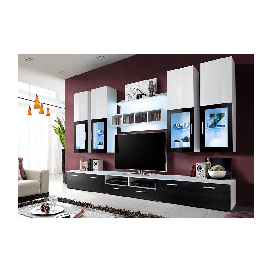 Ensemble meuble tv blanc maison design - Ensemble meuble tv blanc ...