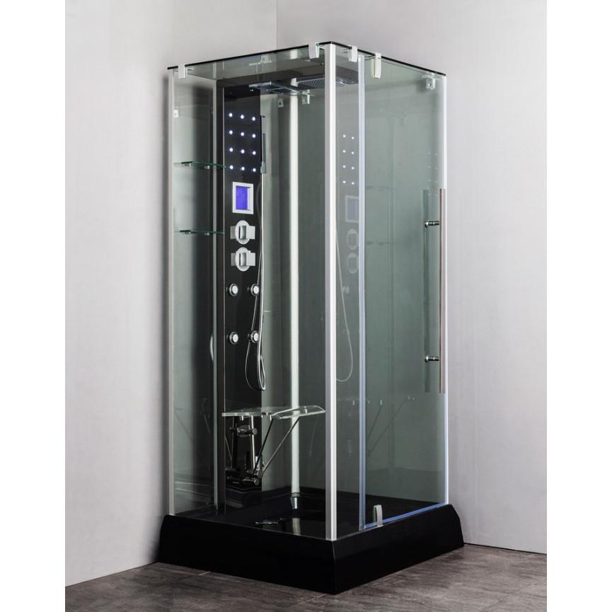 cabine de douche teloria 100 100 220 cm cabine de douche. Black Bedroom Furniture Sets. Home Design Ideas