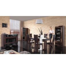 salle à manger complète CORINO chêne foncé