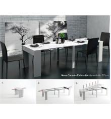 Table extensible REMOVA Wengé ou Blanc