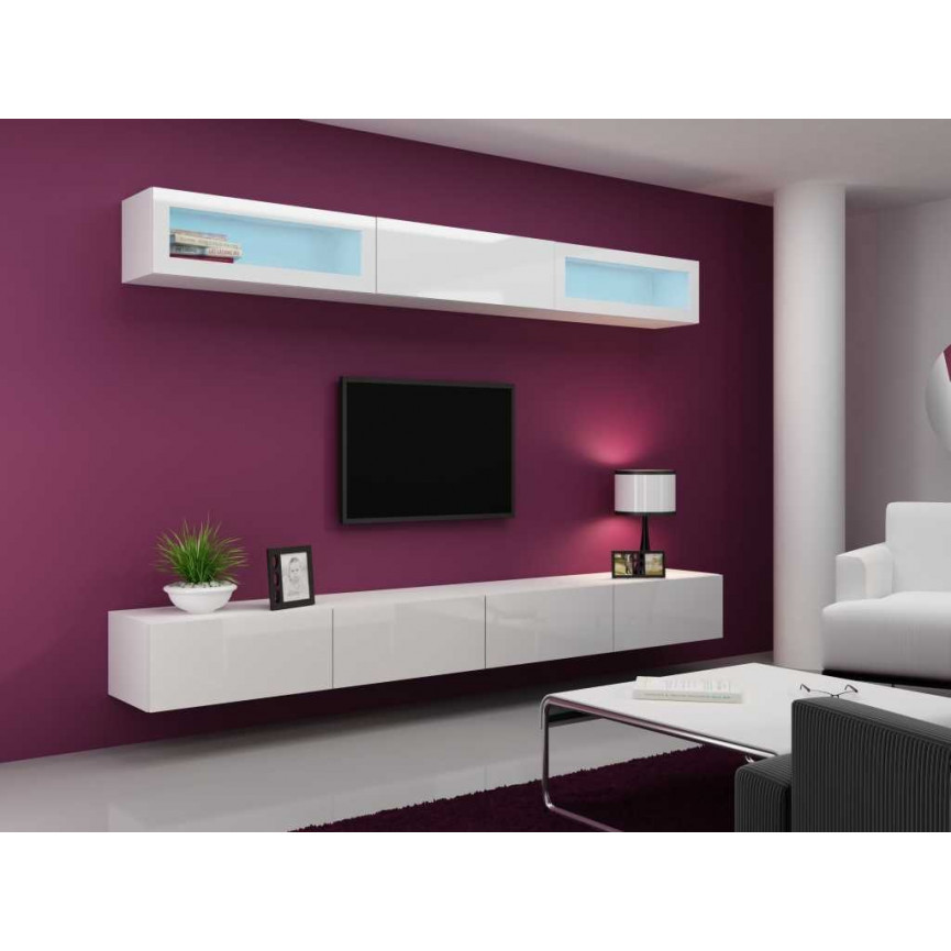 meuble tv vigo trend 280 blanc s jour meuble tv. Black Bedroom Furniture Sets. Home Design Ideas