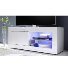 Meuble TV BASIC, 140 cm, blanc