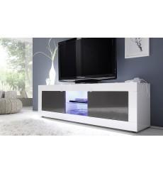 Meuble TV BASIC, 181 cm, blanc / anthracite