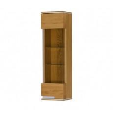 Vaisselier  suspendu 1 porte TORINO en bois massif