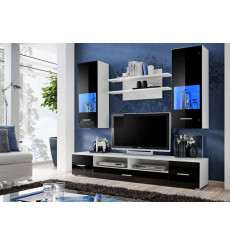 Ensemble meuble TV CORTE II noir