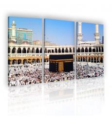 Tableau décoratif  Al Kaaba L 40 x H 100 cm (x3) - intérieur design, décoration moderne, art abstrait i24