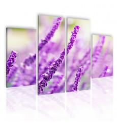 Tableau décoratif Lavender Plant  L 40 x H 70(x2)L 40 cmx 100 cm(x2) - intérieur design, décoration moderne, art abstrait N29