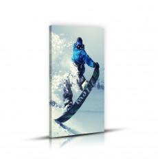 Tableau décoratf Snowbord Time L 45 x H 100 cm - intérieur design, décoration moderne, art abstrait j33
