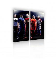 Tableau décoratif Football Players  L 45 x H 100 cm (x2) - intérieur design, décoration moderne, art abstrait j34