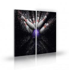 Tableau décoratif Ten pin bowling  L 45 x H 100 cm - intérieur design, décoration moderne, art abstrait j103