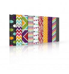 Tableau décoratif Touch of edge patterns L 100 x H 60 cm - intérieur design, décoration moderne, art abstrait A106