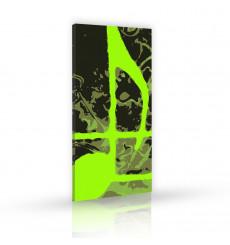 Tableau décoratif Green note  L 45 x H 100 cm - intérieur design, décoration moderne, art abstrait j129