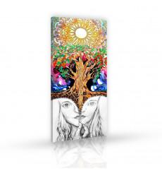 Tableau décoratif  Colorful tree  L45 x H 100 cm - intérieur design, décoration moderne, art abstrait A143