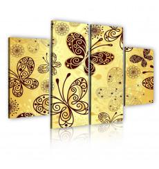Tableau décoratif Butterfly Mosaic  L 30 x H 100 cm(x2) L 30 X H 60 cm(x2) - intérieur design, moderne, art abstrait CI150