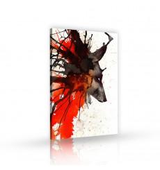 Tableau décoratif Bloody wolf   L 60 x H 100 cm - intérieur design, décoration moderne, art abstrait A151