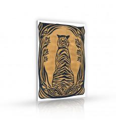 Tableau décoratif Blind tiger  L 60 x H 100 cm - intérieur design, décoration moderne, art abstrait j158