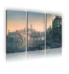 Tableau décoratif The witcher concept  L 40 x H 100 (x3) cm - intérieur design, décoration moderne, art abstrait A171