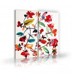 Tableau décoratif Modern Floral Watercolor L 45 x H 100 cm -  intérieur design, décoration moderne, art abstrait A172