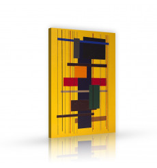 Tableau décoratif Monochromatic abstract   L 60 x H 100 cm - intérieur design, décoration moderne, art abstrait A190