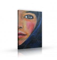 Tableau décoratif Berber girl   L 60 x H 100 cm - intérieur design, décoration moderne, art abstrait A217